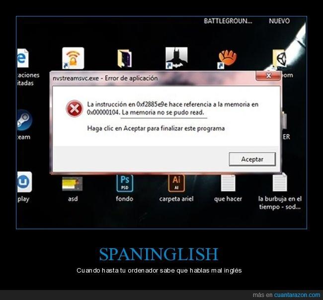 error,español,inglés,ordenador,spaninglish