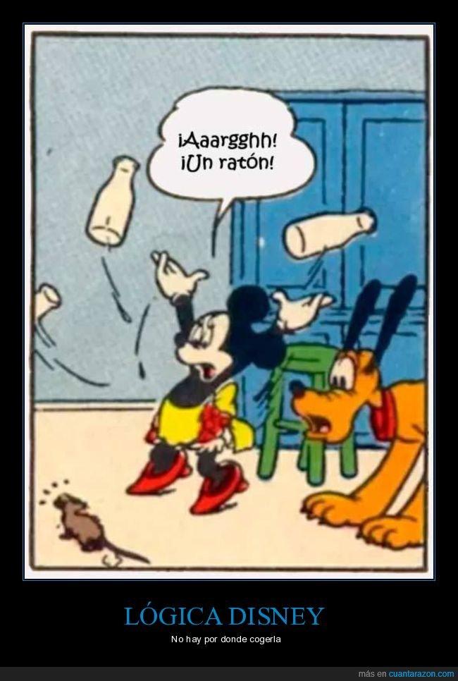 disney,lógica,miedo,minnie mouse,ratón