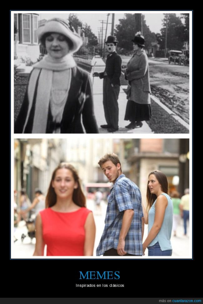 chaplin,distracted guy,parecidos