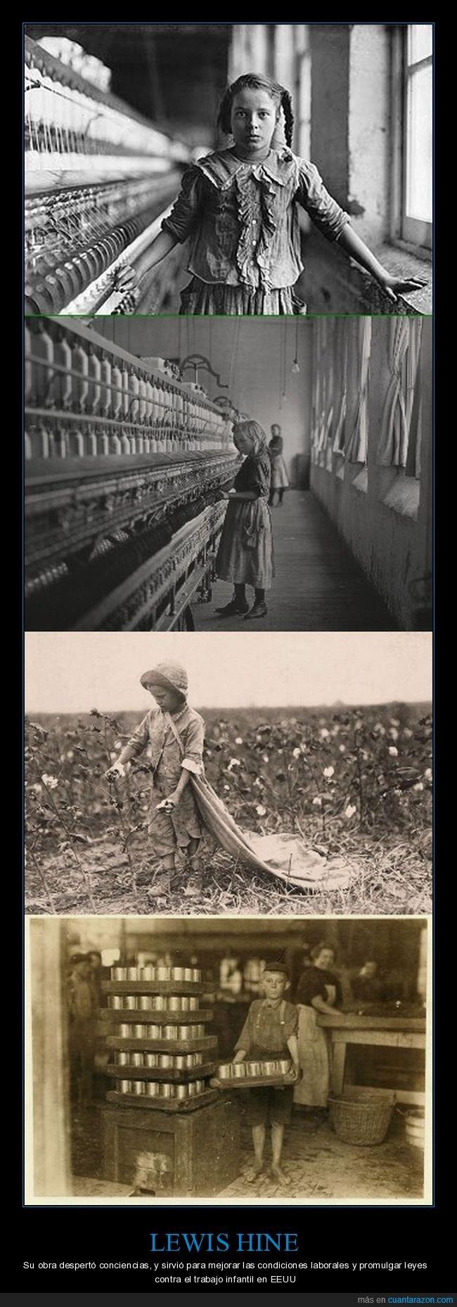 lewis hine,niños,trabajo infantil