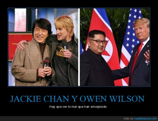 donald trump,envejecer,jackie chan,kim jong un,owen wilson,políticos