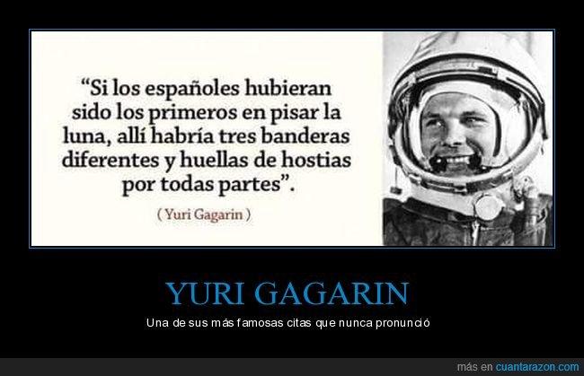 banderas,españoles,luna,yuri gagarin