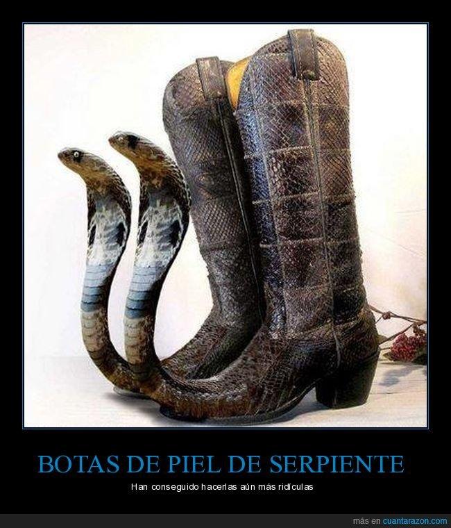 botas,cobra,serpiente,wtf