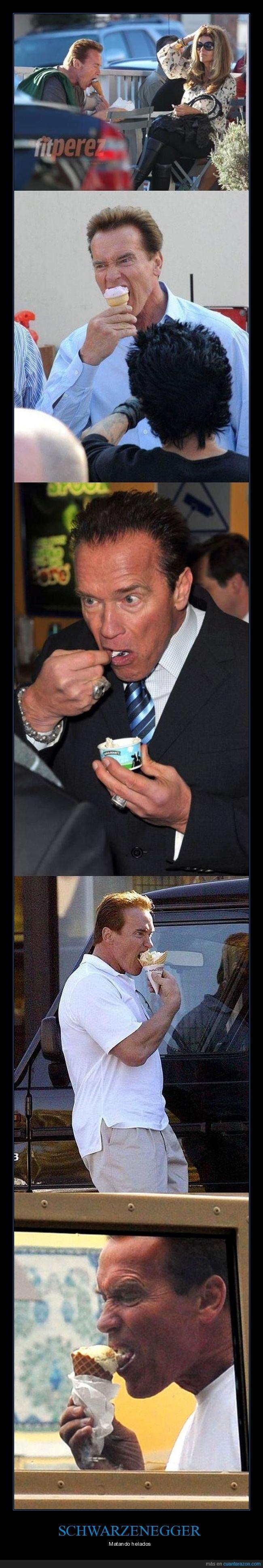 comiendo,helados,schwarzenegger