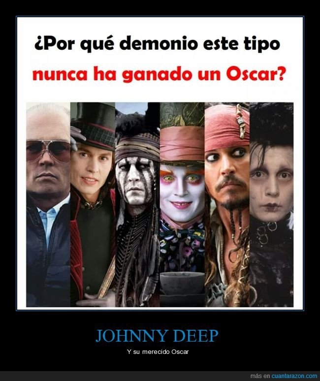 johnny depp,óscar