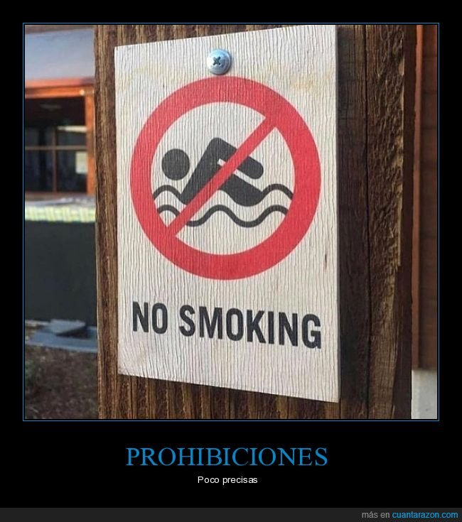 cartel,fails,fumar,nadar,prohibición