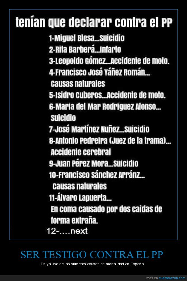 declarar,muertes,políticos,pp
