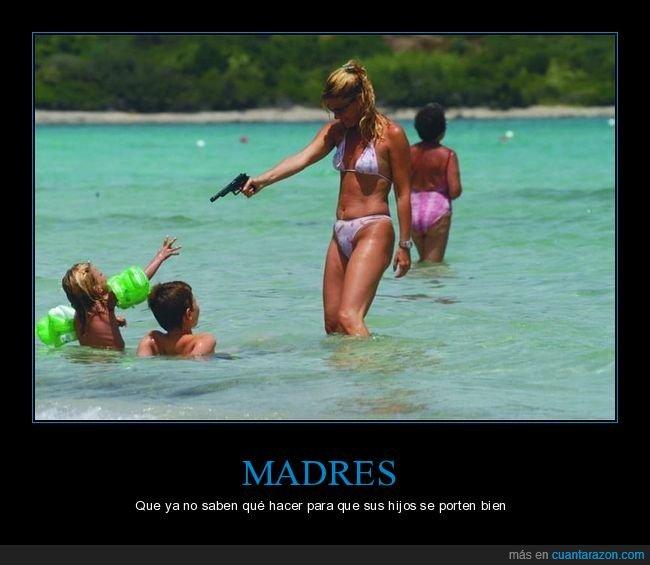 hijos,madres,pistola