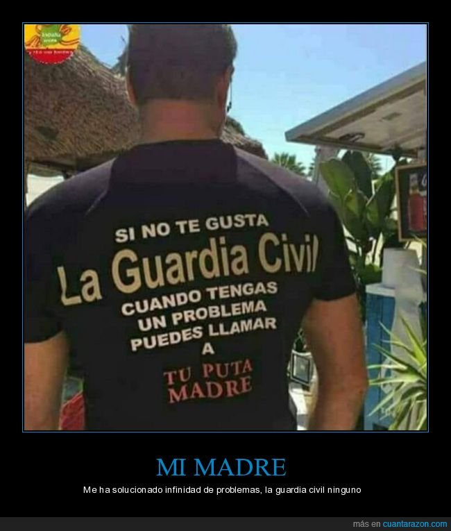 camiseta,guardia civil,problema