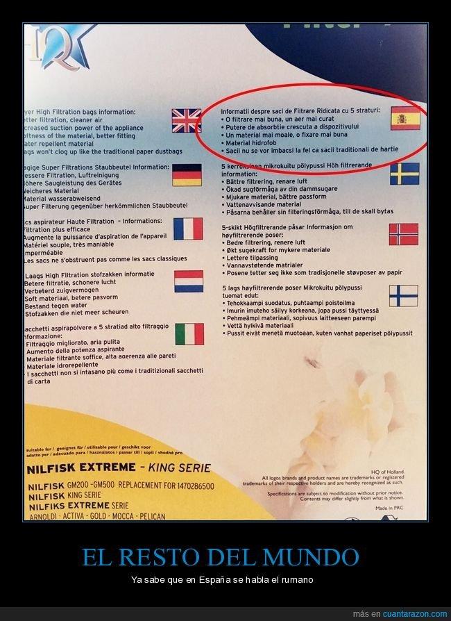 español,instrucciones,rumano