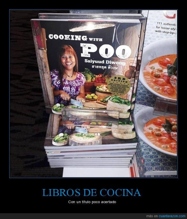 caca,libro de cocina,poo,título,wtf