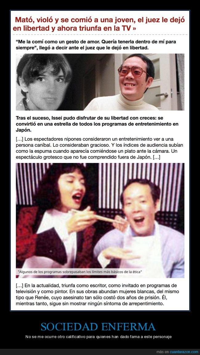 asesinato,caníbal,famoso,japón