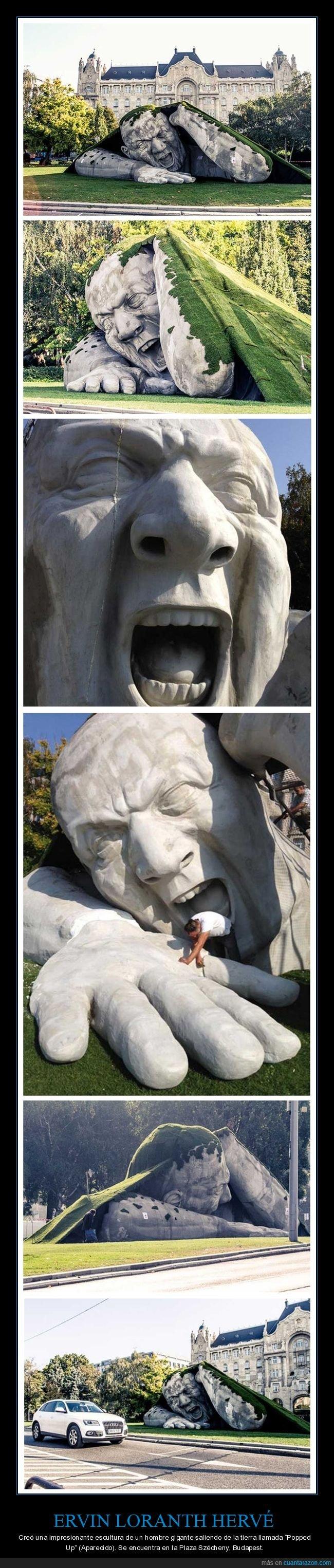 aparecido,ervin loranth hervé,escultura,gigante,pooped up