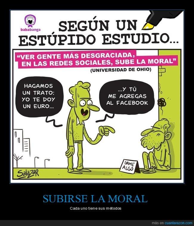 desgraciados,estudio,redes sociales,subir la moral