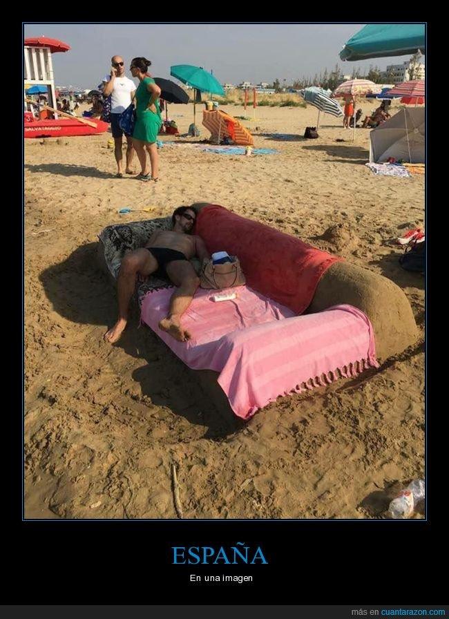 españa,playa,sofá