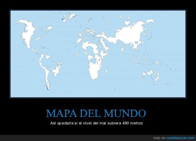 mapa,mundo,nivel del mar