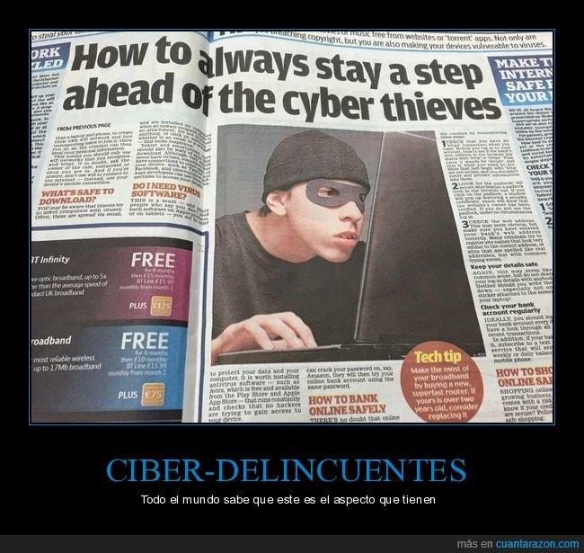 ciber delincuente,periódico,wtf