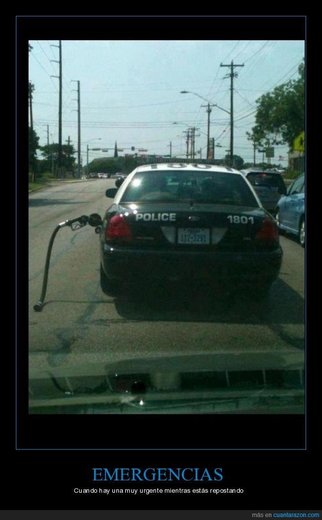 coche,gasolina,manguera,policía,wtf