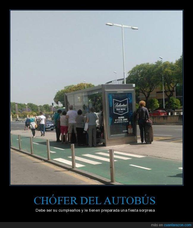 autobús,chófer,parada de autobús,sombra