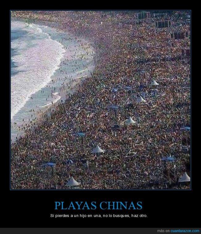 buscar,china,gente,hijo,perder,playa