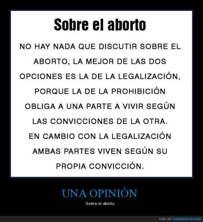 aborto,convicciones,opinión