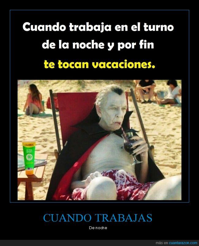 drácula,noche,playa,trabajo