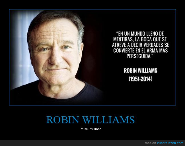 mentiras,robin williams,verdades