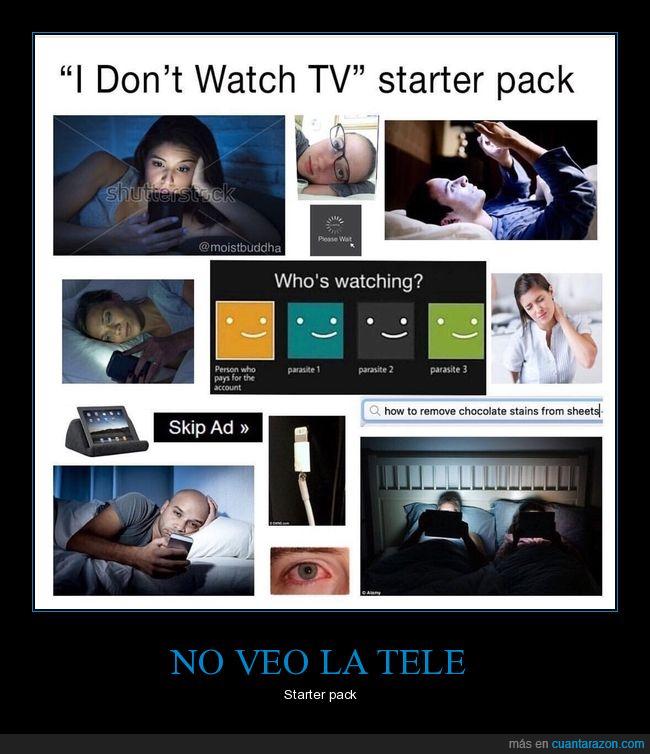 no ver la tele,starter pack,televisión