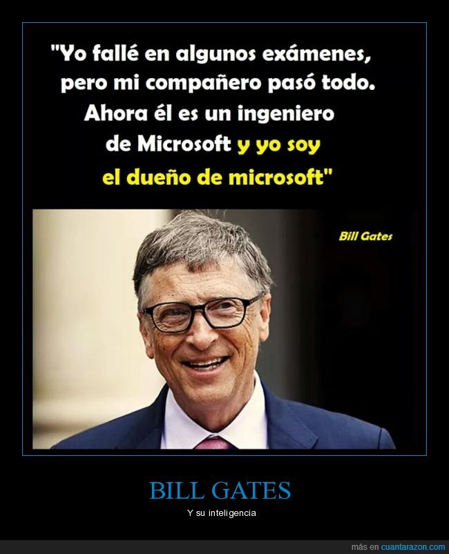 bill gates,compañero,dueño,exámenes,ingeniero