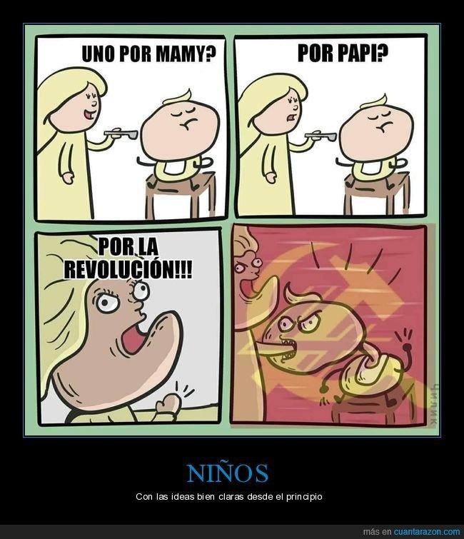 comiendo,madre,niño,revolución