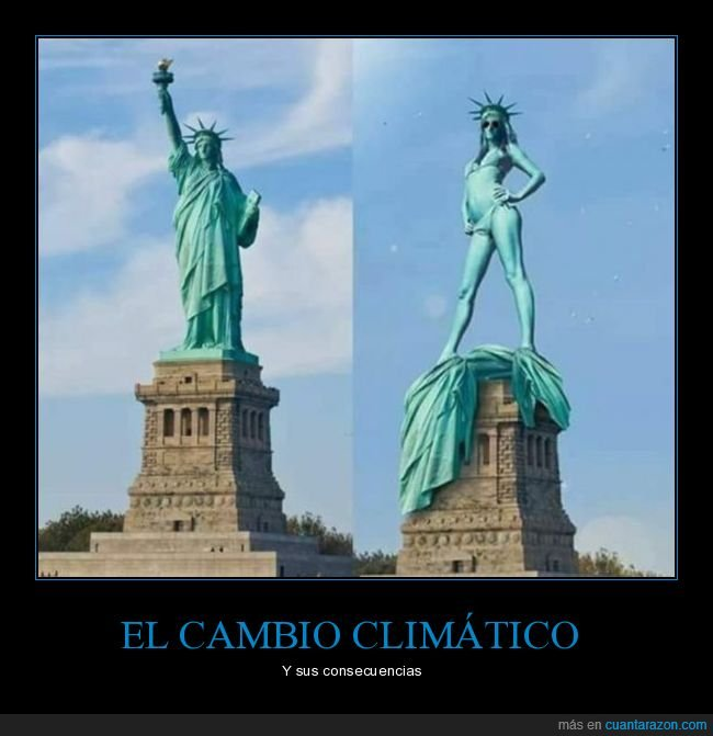 cambio climático,estatua de la libertad,toga