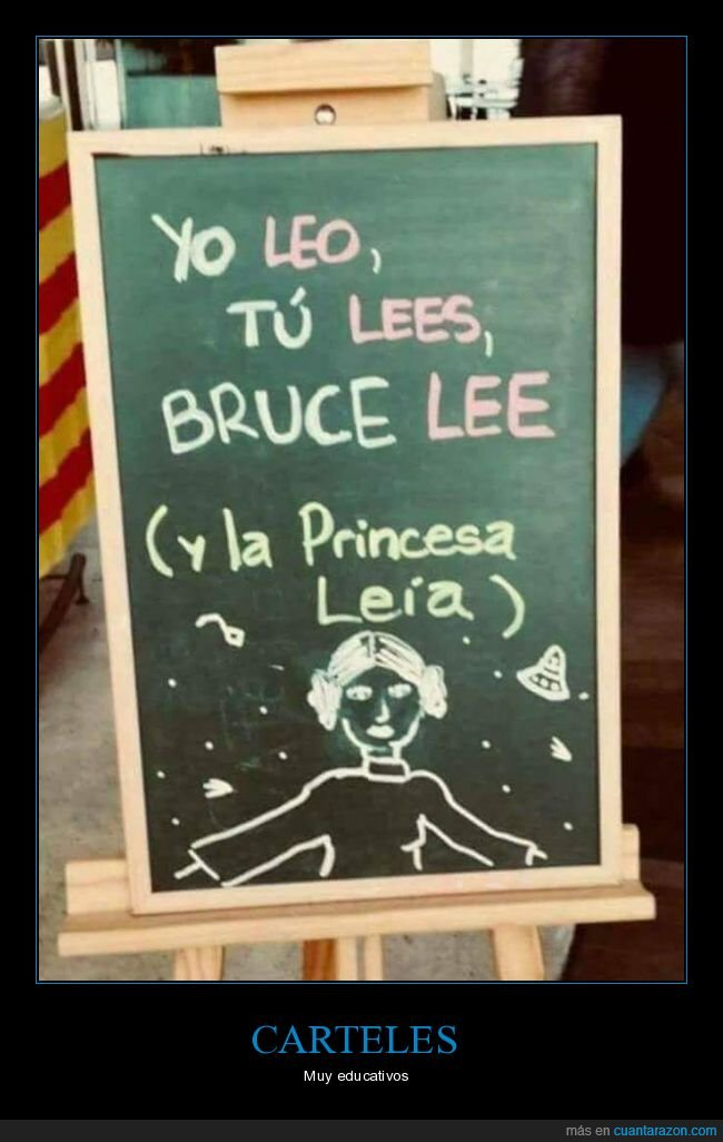 bruce lee,cartel,leer,princesa leia