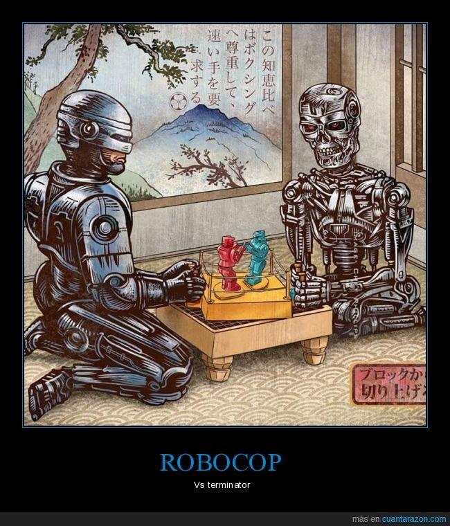 pelea,robocop,robots,terminator
