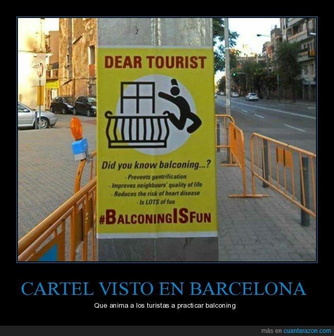 balconing,barcelona,cartel,turistas