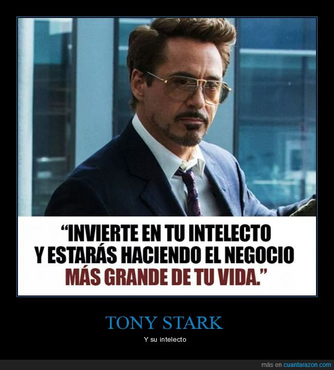 intelecto,inversión,invertir,robert downey jr,tony stark