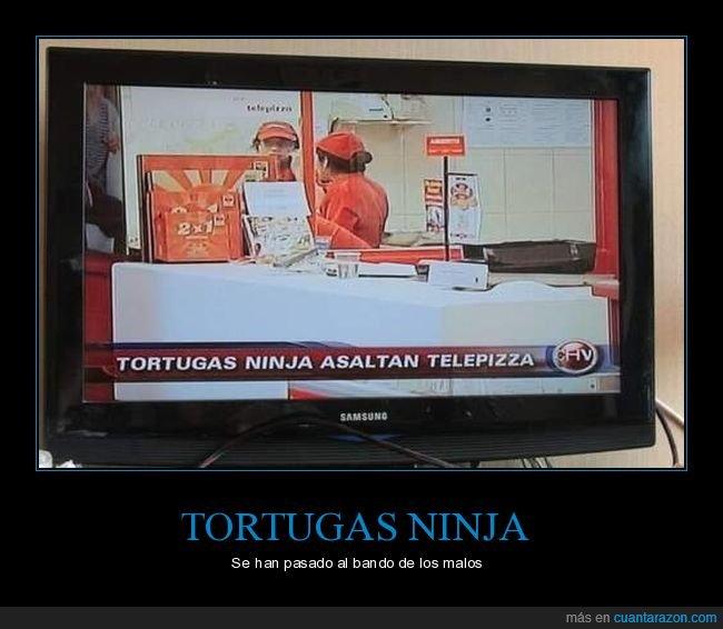 asalto,pizzería,tortugas ninja
