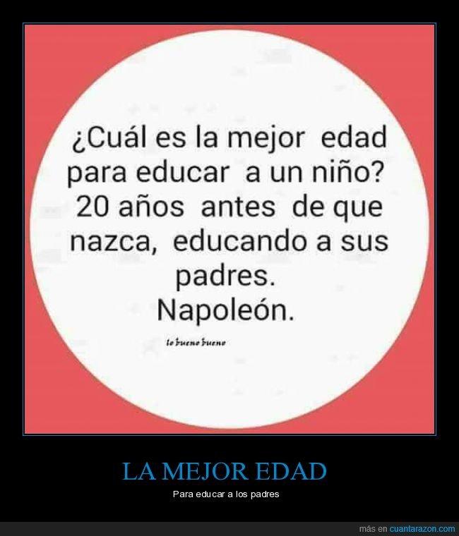 edad,educar,napoleón,niño,padres