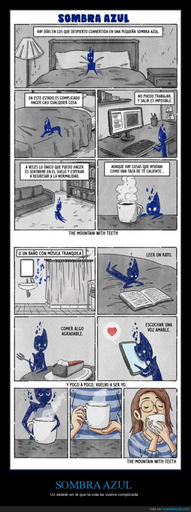 normalidad,sombra azul,tristeza