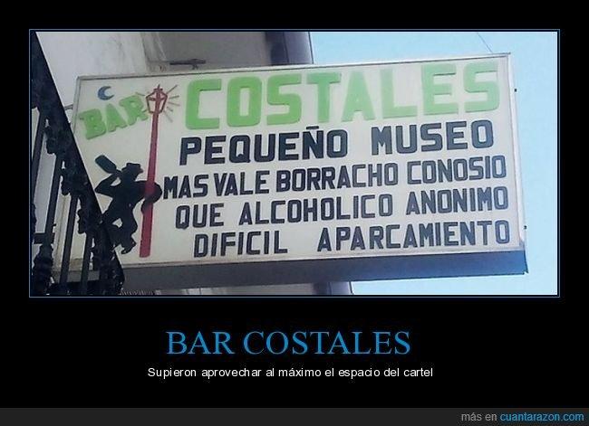 alcohólico anónimo,aparcamiento,bar,borracho conocido,cartel,museo