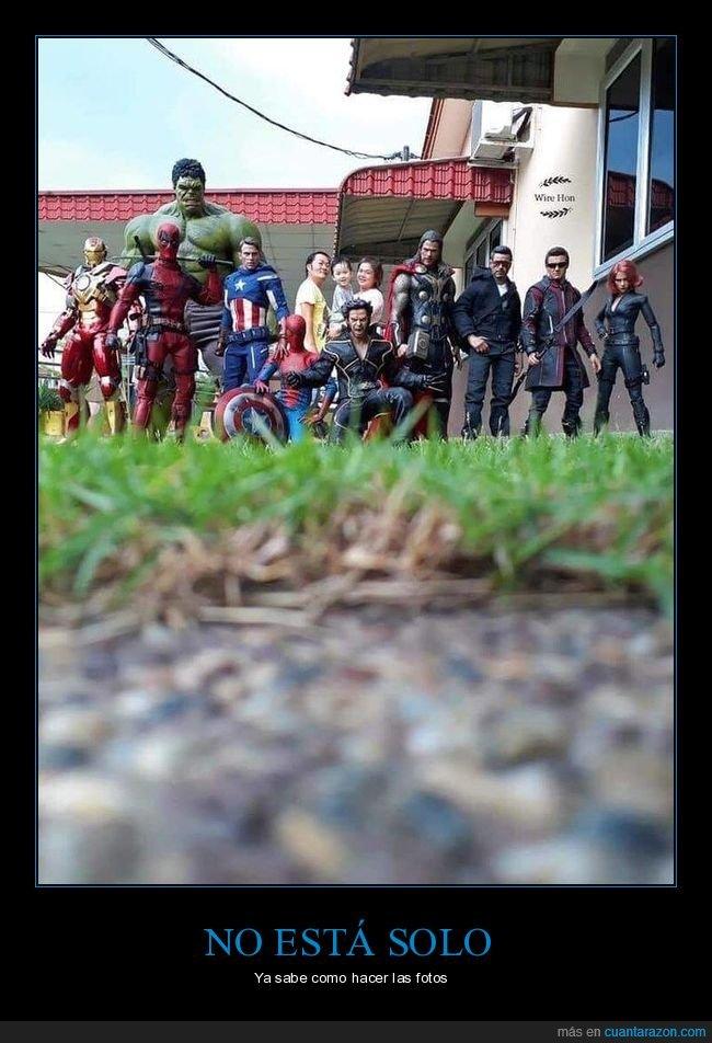 foto,muñecos,perspectiva,superheroes