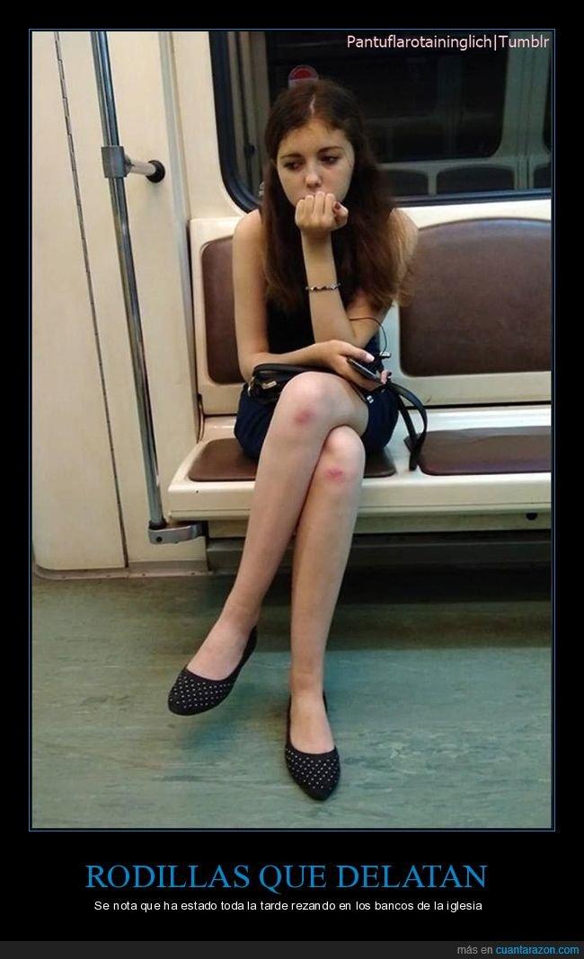 metro,rodillas,wtf
