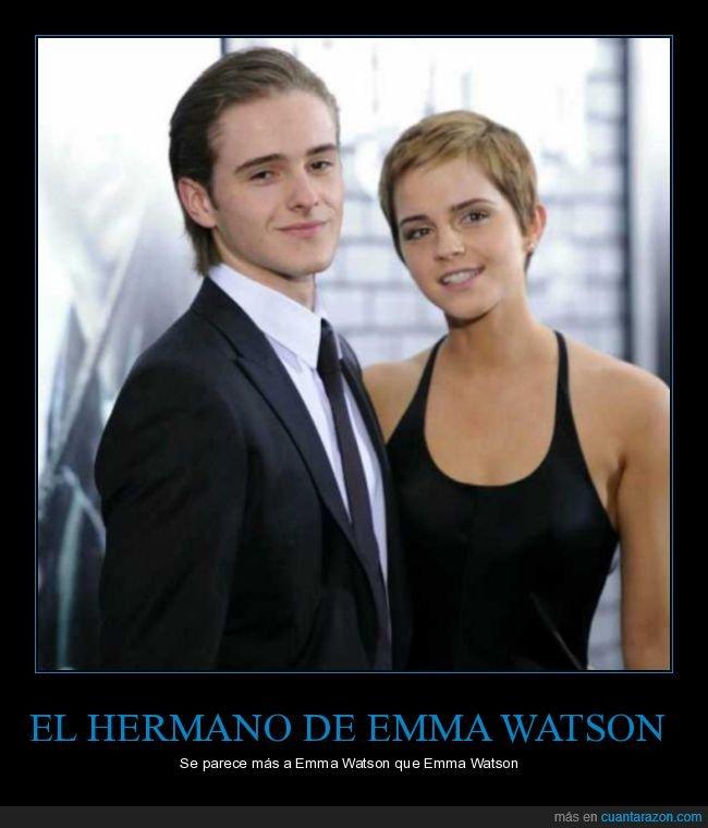 emma watson,hermano,parecidos