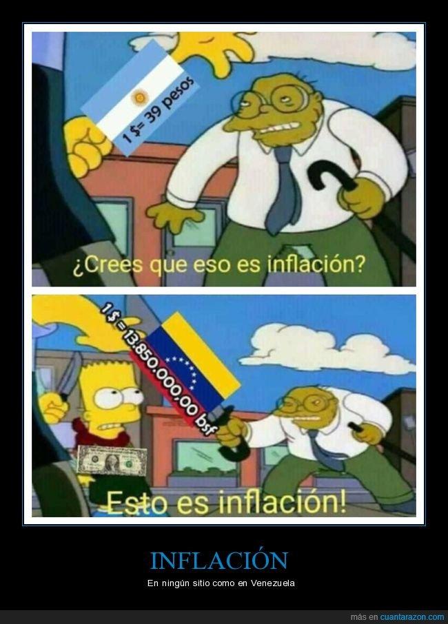 argentina,inflación,simpsons,venezuela