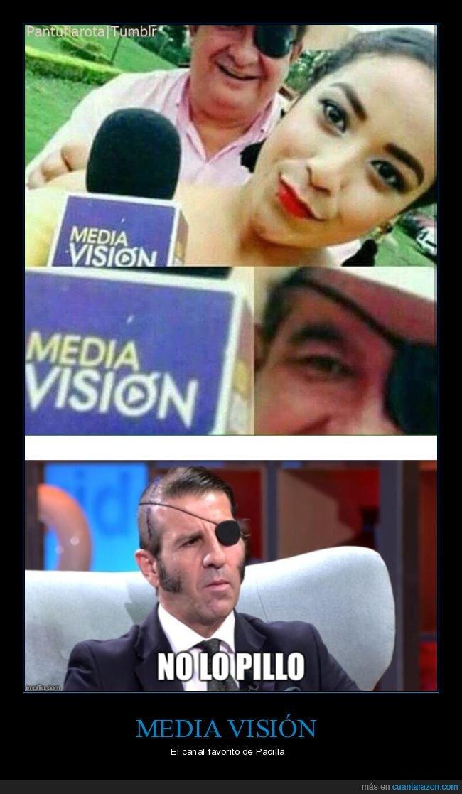 media visión,ojo,padilla,parche