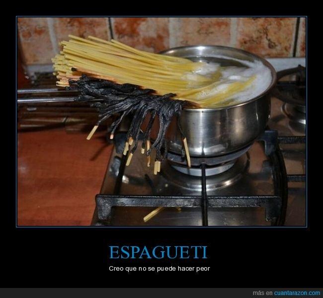 cocinando,espagueti,fails