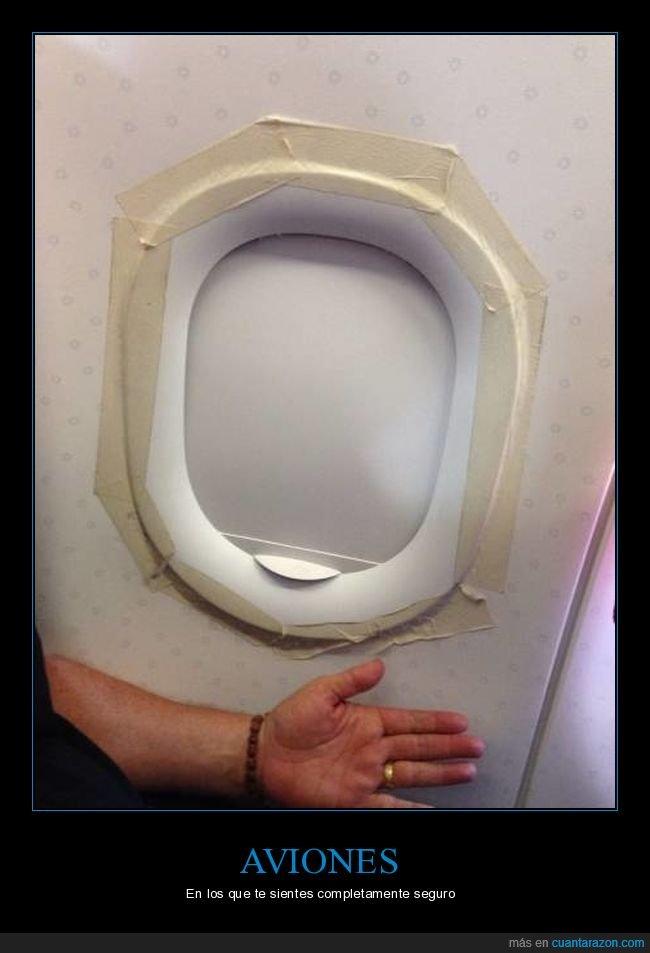 avión,cinta adhesiva,ventanilla,wtf