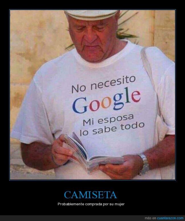 camiseta,google,mujer,saber,todo