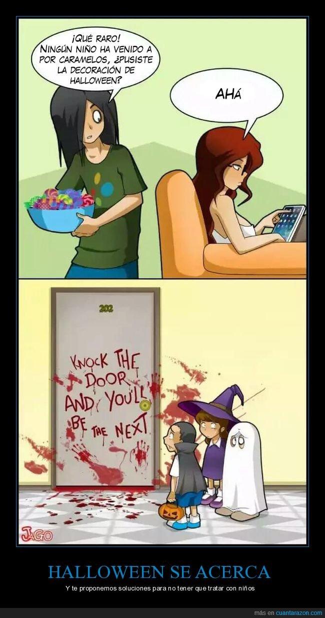 amenaza,caramelos,halloween,niños