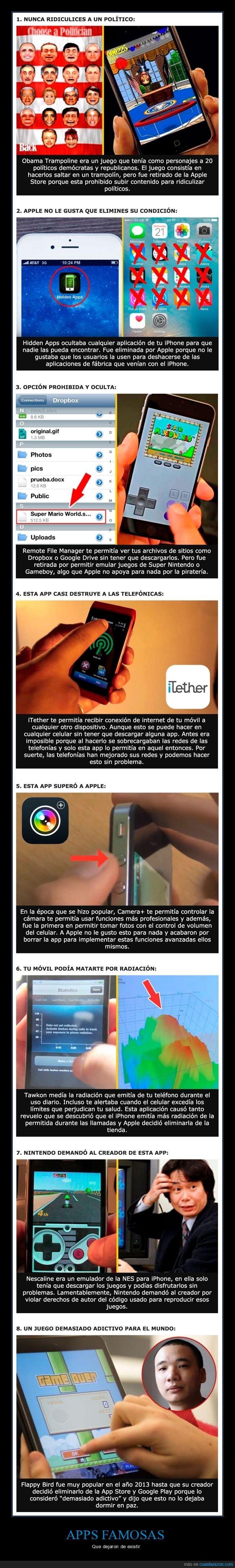 apps,móviles,retiradas