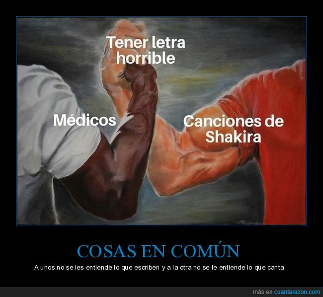 letra horrible,médicos,shakira
